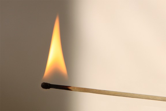 match burning